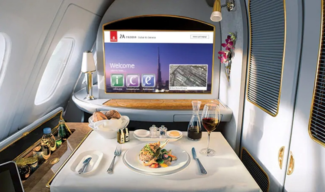 What its Like to Experience First Class Dining with Emirates